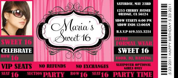 Tips on how to plan a super sweet 16 for Sweet sixteen program template
