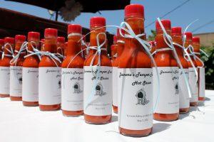BaByQ Baby Shower BBQ Mason Jars Hot Sauce Whimsy Wise (10)
