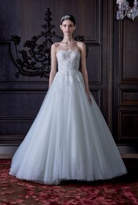 Monique Lhuillier ice blue