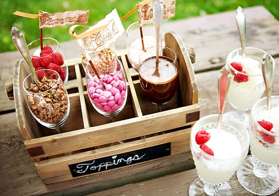 Dessert Topping Bar